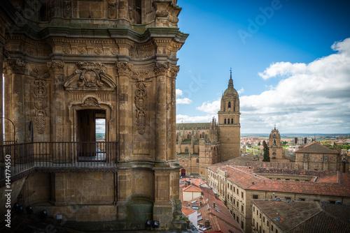 Garden Poster Old building Salamanca, ciudad histórica y cultural, España.