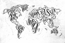 Worldmap Vintage Paper