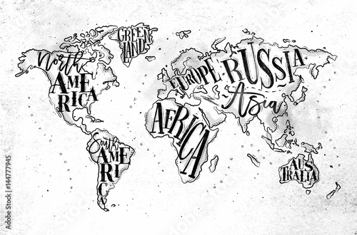 Worldmap vintage paper Canvas Print