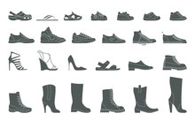Collection Men's, Women's And Children's Footwear. Stylish And Fashionable Shoes, Sandals And Boots.