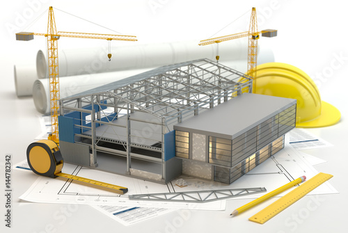 Fototapeta Warehouse construction obraz