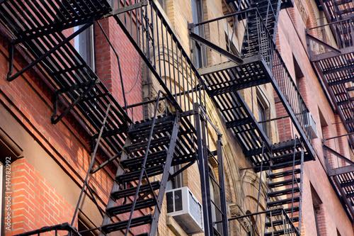 Plakat Fasada budynku w Nowym Jorku