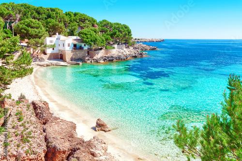 Foto-Leinwand - Cala Gat Mallorca Strand Urlaub Spanien