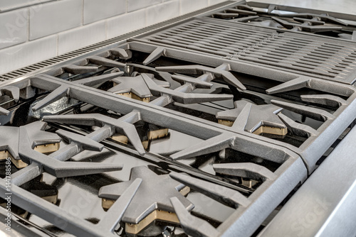 Gas Burners and Grill in Luxury Kitchen