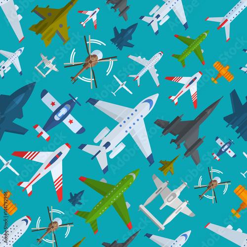 wzor-samoloty-widok-z-gory