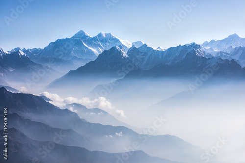 Canvas Print Daylight view of Mount Everest.