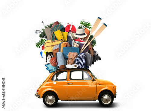Vacation and travel, a huge pile of things for the holiday - 144802145