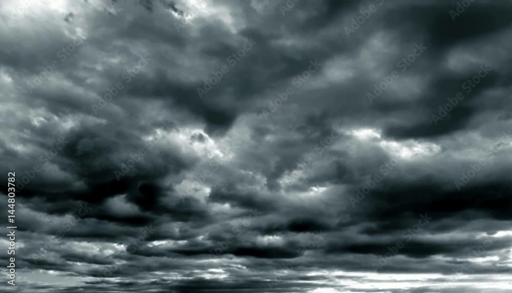 Fototapety, obrazy: Dark cloudy sky in rainy season