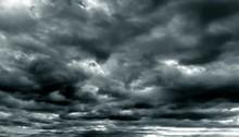 Dark Cloudy Sky In Rainy Season