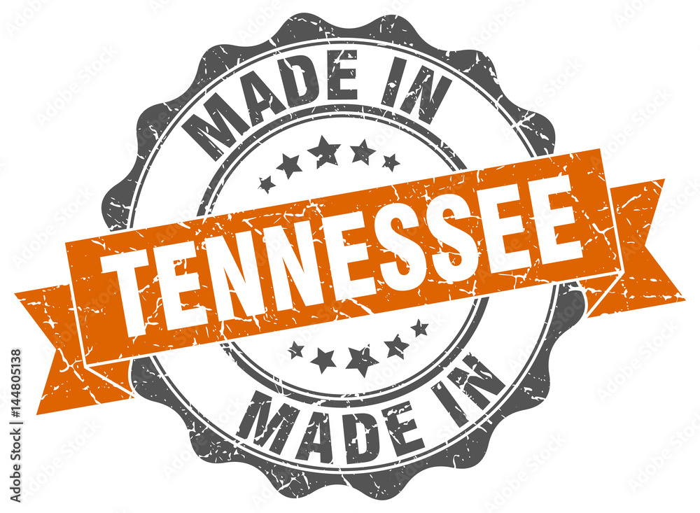 Fototapeta made in Tennessee round seal