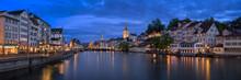 Zurich Skyline And Limmat Rive...