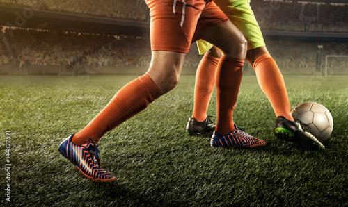 Zdjęcie XXL piłkarze walczą o piłkę