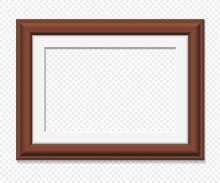 Horizontal Rectangular Brown Frame
