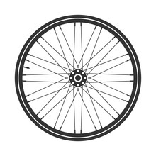 Bicycle Wheel Symbol,vector. B...