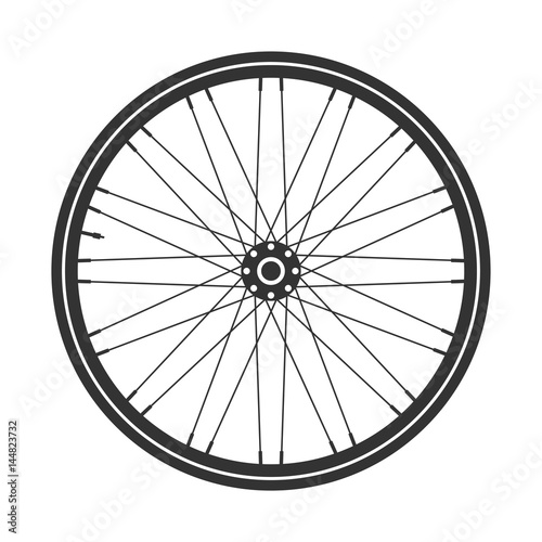 Tablou Canvas Bicycle wheel symbol,vector