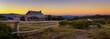 canvas print picture - Sunset above Craigs Hut  in the Victorian Alps, Australia