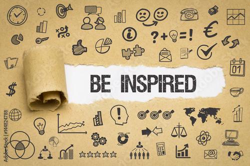 Photo  Be Inspired / Papier mit Symbole