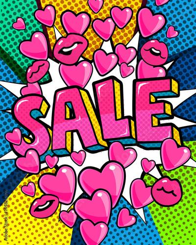 Zdjęcie XXL Wiadomość sprzedaż w stylu pop-art