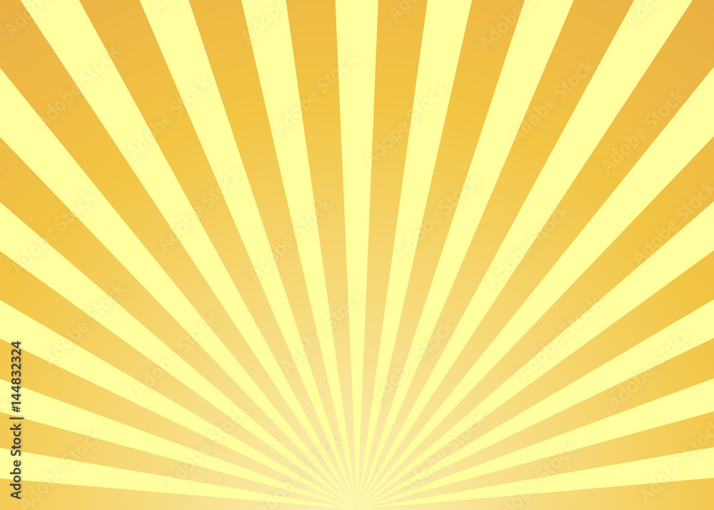 Fototapety, obrazy: Abstract yellow sun rays background