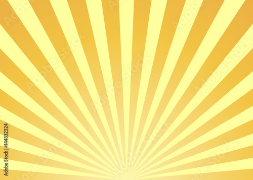 Fotografie, Tablou  Abstract yellow sun rays background
