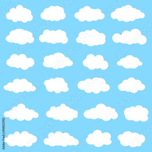 Foto op Plexiglas Hemel Cloud icon set
