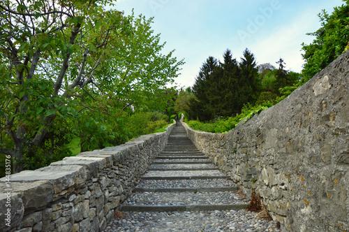 Photo Flight of steps, stairs, scalinata, salita Scaletta dello Scorlazzino, Bergamo,