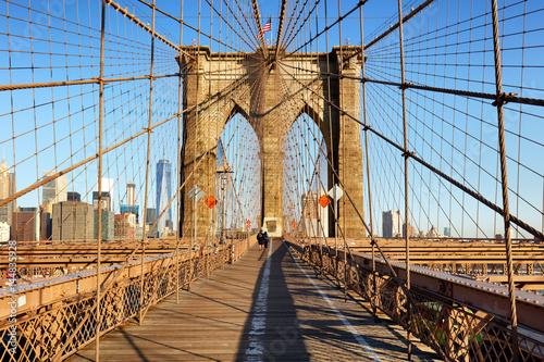 Keuken foto achterwand Bruggen Brooklyn Bridge at sunrise, New York City , Manhattan