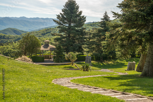 Fotografie, Obraz  Beautiful Ferrari garden in small city of Stanjel in Karst region in Slovenia, E