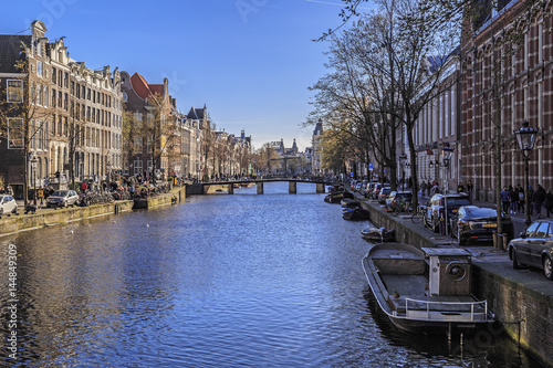 Photo  Canal of Amsterdam, Netherlands
