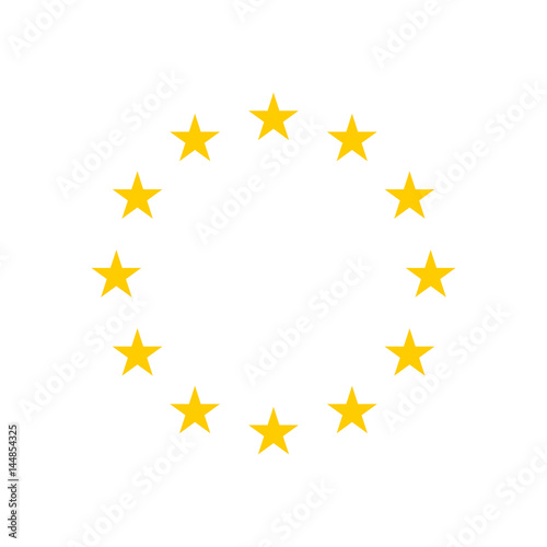 The wreath of stars of EU isolated on white background. Vector illustration. EPS10 Wall mural