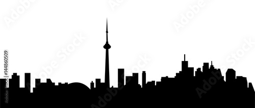 Canvas Print toronto city skyline