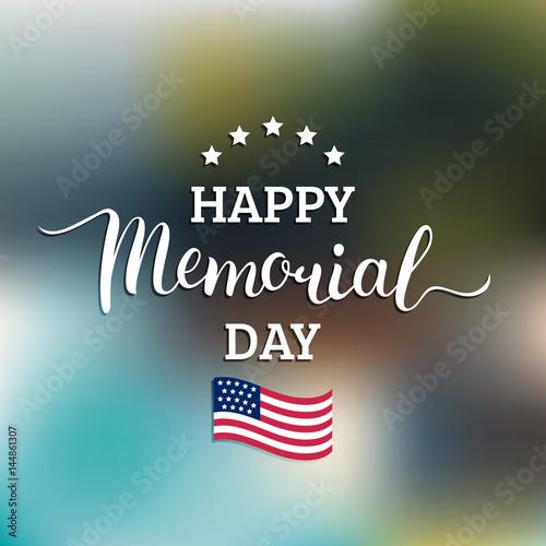 Láminas  Vector Happy Memorial Day card
