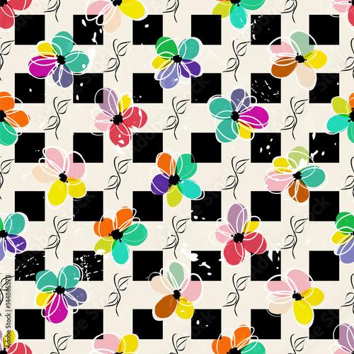 kolorowe-kwiaty-i-czarne-kwadraty