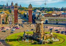 Barcelona, Catalonia, Spain: The Spanish Square, National Art Museum Of Catalonia