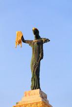 Batumi, Adjara, Georgia. Statue Of Medea On Blue Sky Background