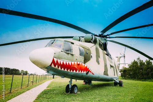 Tuinposter Helicopter Russian Soviet multi-purpose transport helicopter