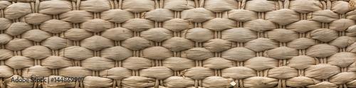 Fotografía  Brown wicker basket texture