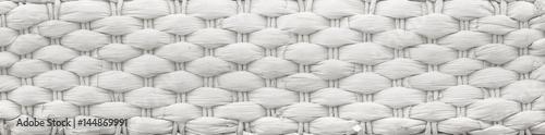 Obraz Texture of a white wicker basket - fototapety do salonu
