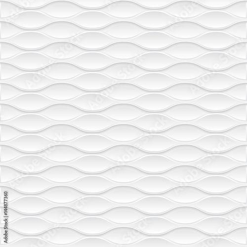 Fotografija  White geometric texture. Vector background