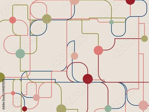 Carta da parati Molecule And Communication Background