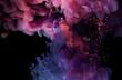 Tinte / farbige Flüssigkeit in Wasser. Wolken, Unterwasserwelten und Skulpturen enstehen