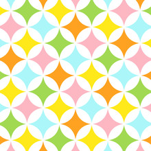 Abstract Geometric Pattern In Spring Colors