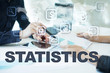 statistics on virtual screen. Business, technology and internet concept.