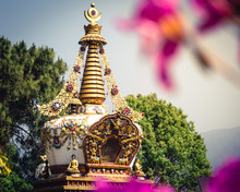 Stupa At Kopan Monastery Templ...