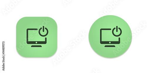 Vector Green Web Buttons Wallpaper Mural