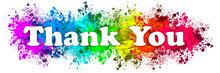 Paint Splatter Words - Thank You