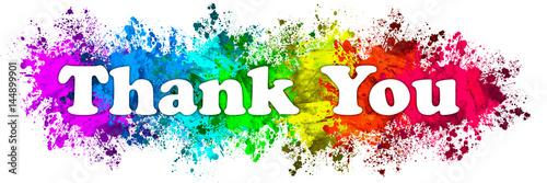 Fotografía  Paint Splatter Words - Thank You