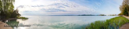Fotografie, Obraz Balaton lake panorama, Balatonfüred, Hungary