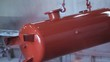 of painting a pressure vessel with red colour