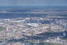 Aerial View Above Stratford (Olympic Park), London -  Looking East